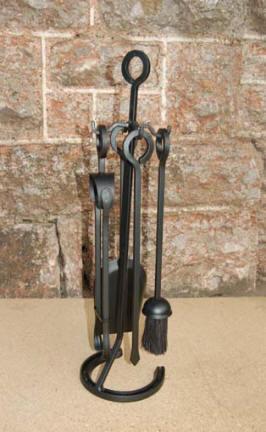 Hand forged fireplace shovel  fire tool  companion set